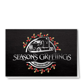 Trucking Christmas Cards - Silver Greetings