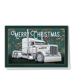 Trucking Christmas Cards - Christmas Floral