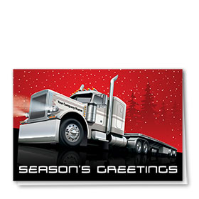 Trucking Christmas Cards - Seasons Flatbed