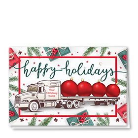 Trucking Christmas Cards - Whimsical Flatbed