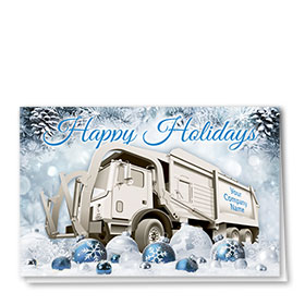 Trucking Christmas Cards - Frozen Refuse