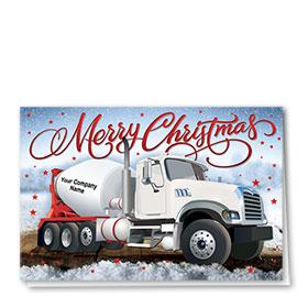 Construction Christmas Cards - White Concrete
