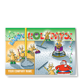 Construction Christmas Cards - Pouring Happy Holidays