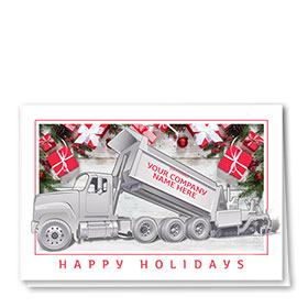 Construction Christmas Cards - Gifts Paver