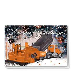 Construction Christmas Cards - Woodsy Paver