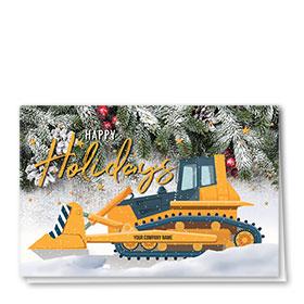 Construction Christmas Cards - Snow Dozer