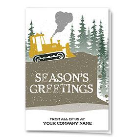 Construction Christmas Cards - Simple Dozer