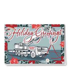 Construction Christmas Cards - Ribbon Crane