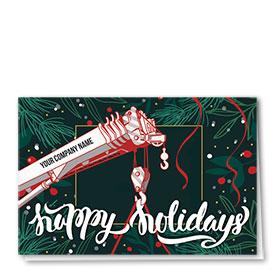 Construction Christmas Cards - Evergreen Crane