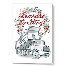 Construction Christmas Cards - Roll Off Wreath