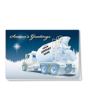 Premium Foil Construction Holiday Cards - Bright Star Concrete
