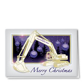 Premium Foil Card - Purple Night Excavator