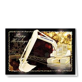 Premium Foil Card - Gold Burst Excavator