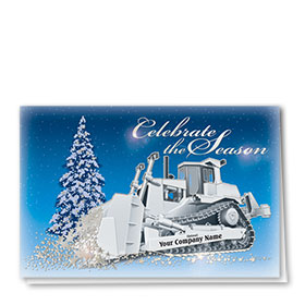 Premium Foil Construction Holiday Cards - Dazzling Dozer