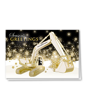 Premium Foil Card - Brilliant Excavator
