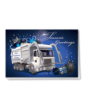 Premium Foil Construction Holiday Cards - Refuse Stars