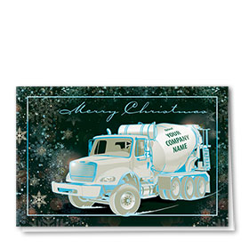 Premium Foil Construction Holiday Cards - Silver Lining Concrete