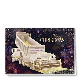 Premium Foil Construction Holiday Cards - Plum Paver