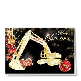 Premium Foil Card - Holiday Night Excavator