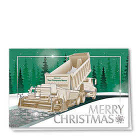 Premium Foil Construction Holiday Cards - Snowflake Roadway