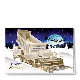 Premium Foil Construction Holiday Cards - Santa Silhouette