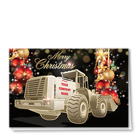 Premium Foil Construction Holiday Cards - Enchanted Holiday