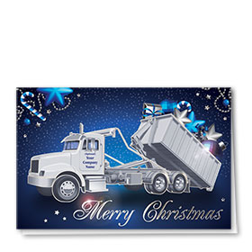Premium Foil Construction Holiday Cards - Royal Roll Off