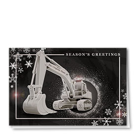 Premium Foil Construction Holiday Cards - Shimmering Night