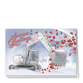 Premium Foil Construction Holiday Cards - Holiday Berries