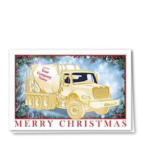 Premium Foil Construction Christmas Cards - Shining Concrete