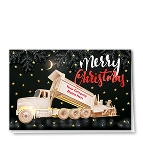 Premium Foil Construction Christmas Cards - Stary Night Paver