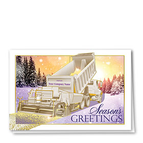 Premium Foil Construction Christmas Cards - Sunrise Paver