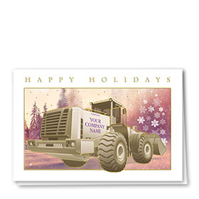 Premium Foil Construction Christmas Cards - Winter Light Loader