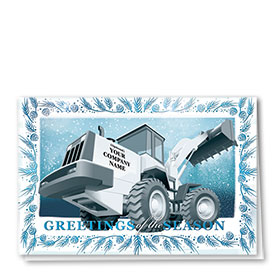 Premium Foil Construction Christmas Cards - Cobalt Loader