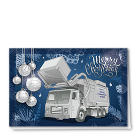 Premium Foil Trucking Christmas Cards - Royal Refuse