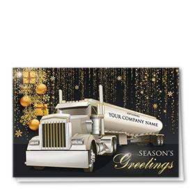 Premium Foil Trucking Christmas Cards - Grand Tanker