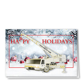 Premium Foil Construction Christmas Cards - Holiday Crane