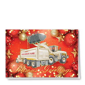 Premium Foil Construction Christmas Cards - Red Reflections