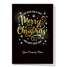 Premium Foil Trucking Christmas Cards - Golden Wishes