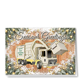 Refuse Truck Folded Cards