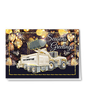 Premium Foil Construction Christmas Cards - Brilliant Pair