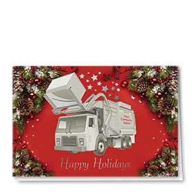 Premium Foil Trucking Christmas Cards - Starry Refuse