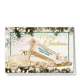 Premium Foil Construction Christmas Cards - Merry Paver
