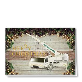 Premium Foil Construction Christmas Cards - Christmas Crane