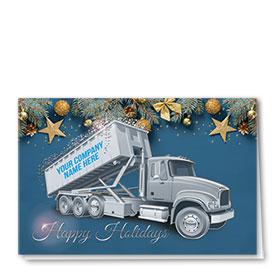 Premium Foil Construction Christmas Cards - Silver Stars