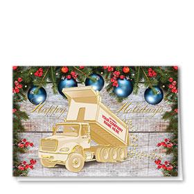 Premium Foil Construction Christmas Cards - Golden Holiday