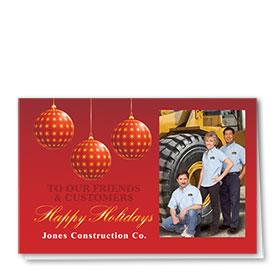 Construction Holiday Cards - Photo Cards - Dsg T02C