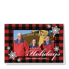 Construction Holiday Cards - Photo Cards - Dsg T11C