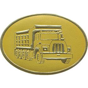 Gold Foil Seal - Dump Truck