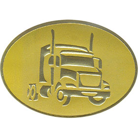 Gold Christmas Card Foil Seals - Tractor Cab
